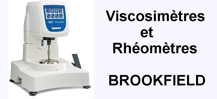 Viscosimètres et rhéomètres Brookfield